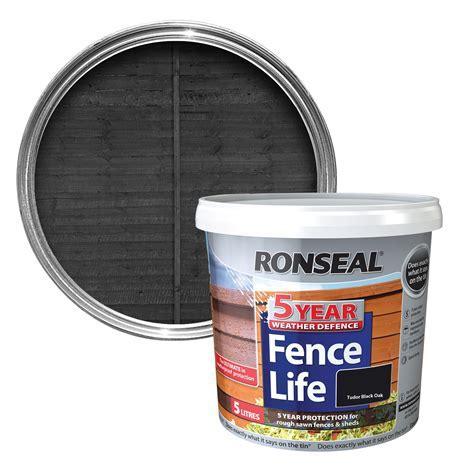 Ronseal Tudor black oak Matt Shed & fence stain 5L