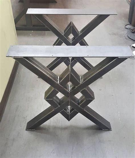 unique double diamond dining table legs model dddtl