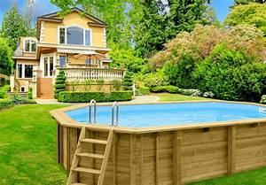 holzpool ovales schwimmbecken 6x4m 8 eck pool swimmingpool With französischer balkon mit swimmingpool garten kaufen
