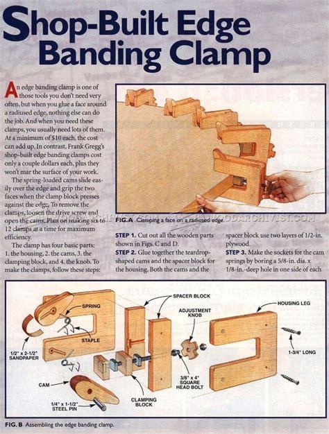 shopmade edge banding clamp woodarchivist