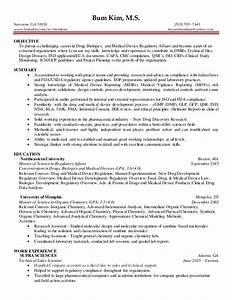 6 3 2016 regulatory affairs entry level resume bum kim for Pharmaceutical regulatory affairs resume sample
