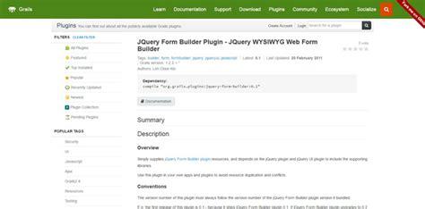 jquery form builder plugins gojquery