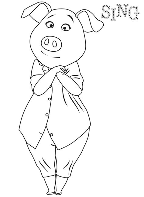 sing coloring pages  coloring pages  kids