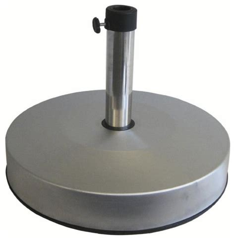 stainless steel sand or concrete fillable 50 lb umbrella