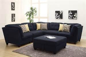 Poundex Sectional Sofa Set by Keaton Collection 503451 Modular Sectional Sofa Blue Linen