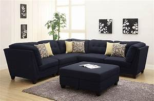 Keaton collection 503451 modular sectional sofa blue linen for Sectional sofa orange county