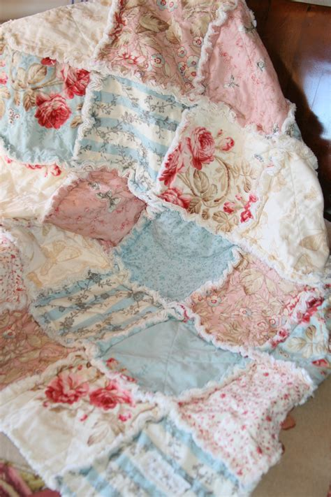 shabby chic quilt shop baby girl rag quilt shabby chic french country
