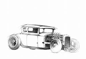 pencil drawing 1934 ford With 34 ford hot rod