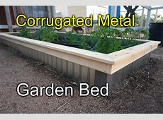 Corrugated raised beds for my garden New Style! YouTube