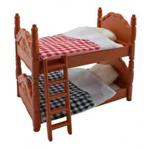 plastic bunk bed quilt for sylvanian families furryville