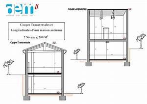 plan coupe facade maison 2 niveaux n1 With plan maison 2 niveaux