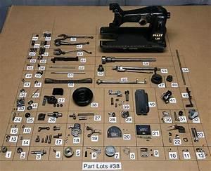 1954 Pfaff 130 6 Sewing Machine Parts Lots Repair