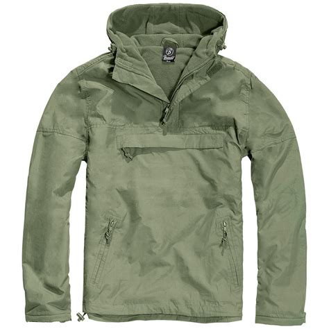 hooded drawstring pullover brandit classic windbreaker hooded anorak mens jacket