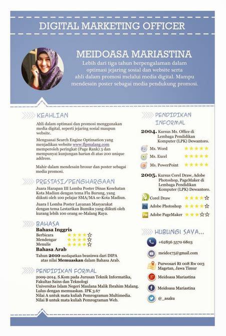 contoh resume cv fresh graduate yang baru lulus kuliah