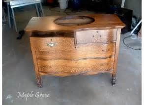 maple grove antique dresser turned vanity