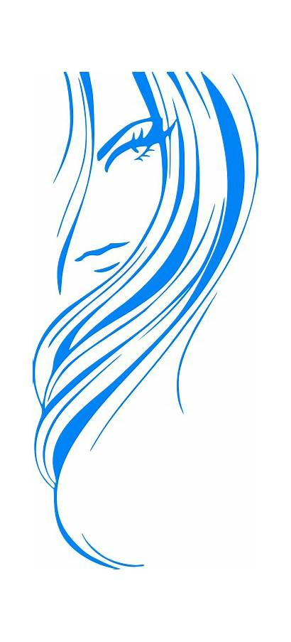 Flowing Hair Clipart Abstract Clipartmag
