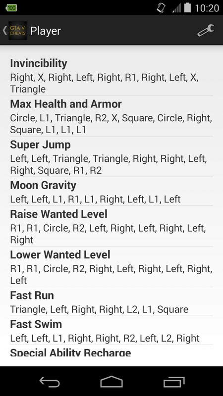 Cheats for GTA 5 (PS4 / Xbox) APK Download - Free
