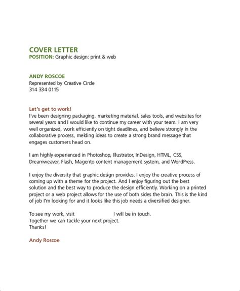 sample graphic design cover letter  examples  word