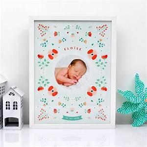 affiche de naissance scandinave personnalisee fleurs With affiche chambre bébé avec livraison de fleurs exotiques