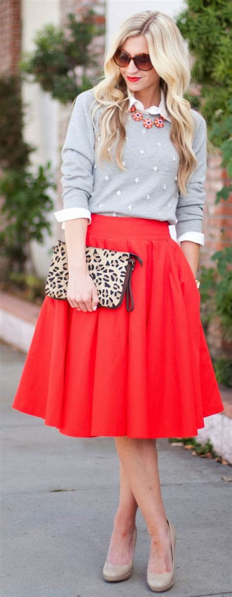 Midi skirts outfits-16 cute Outfits To Wear With Midi Skirts