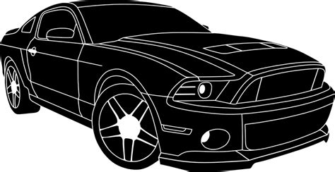 kostenlose vektorgrafik auto schwarz weiss fahrzeug