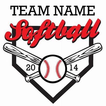Softball Clipart Vector Clip Logos Designs Team