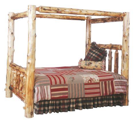 log bedroom sets traditional cedar youth canopy log bedroom set from