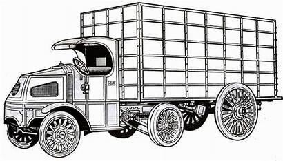 Coloring Semi Truck Classic Version Imaginary Netart