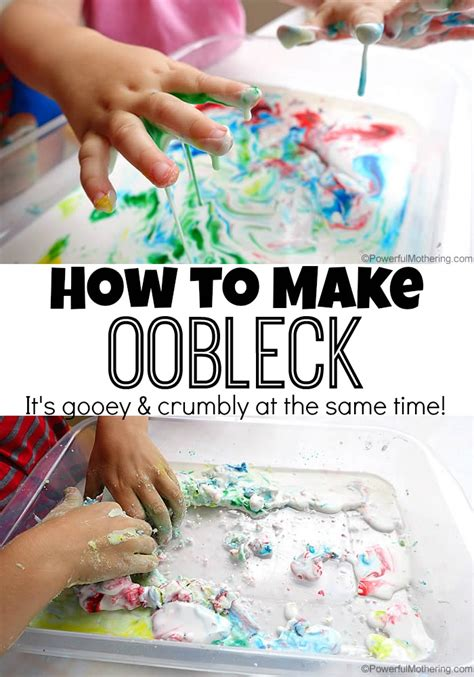 How To Make Oobleck Recipe (sensory And Science