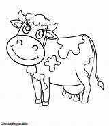 Cow Coloring Printable Animals Colour צ�יעה Worksheets Preschool Coloringpages Pattern Animal Cartoon דף דפי חיות Cows Sheets דינוזאור Vector Toddler sketch template