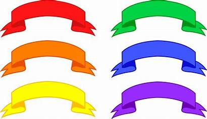 Banners Colorful Clip Six Sweetclipart