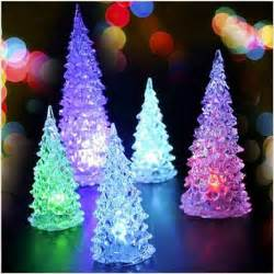 led glow in artificial mini tree with colorful lights ornaments for