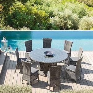 Tables Rondes De Jardin : best salon de jardin table ronde plateau tournant gallery ~ Premium-room.com Idées de Décoration