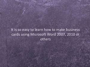 how to make personalized business cards using template in With how to make a business card template in word