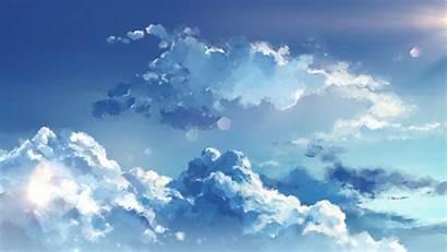 Clouds Sky Anime Wallpapers Aesthetic Desktop Laptop