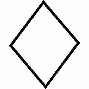 Diamond shape, IOS 7 interface symbol Icons   Free Download