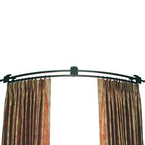 corner window curtain rod continuously curved rod ona drapery hardware