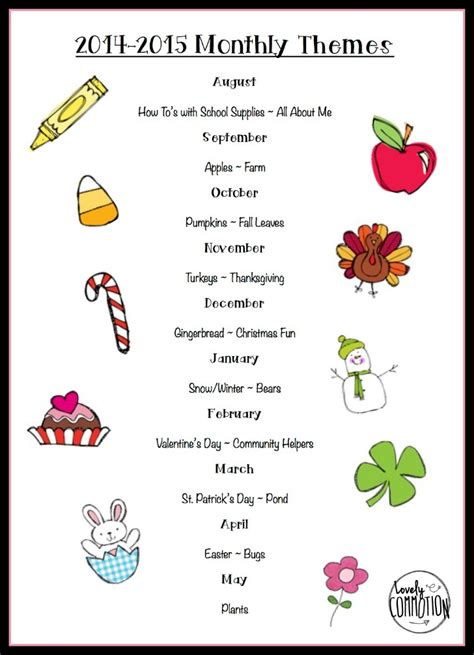 may preschool themes monthly themes just b cause 236