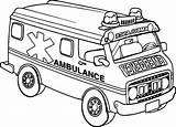 Ambulance Coloring Transportation Printable Olphreunion Gambar Template sketch template