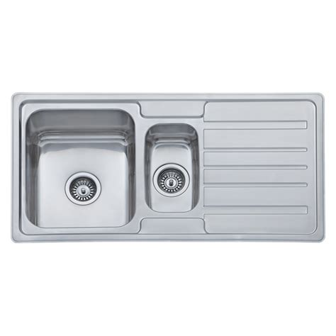 kitchen sink bunnings mondella concerto 1 1 2 bowl sink with drainer 2597