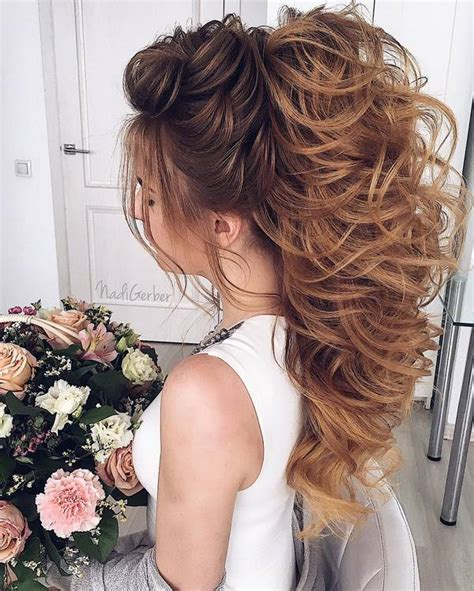 stuning long curly wedding hairstyles  nadi gerber