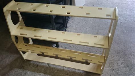 hermine bureau meuble presentoir bois pour accessoires divers