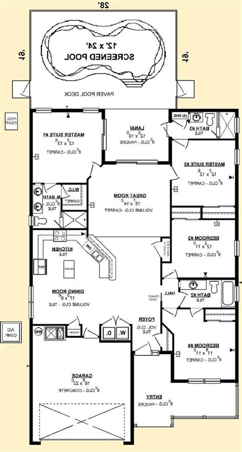 one story house plans with two master suites house plans 2 master suites