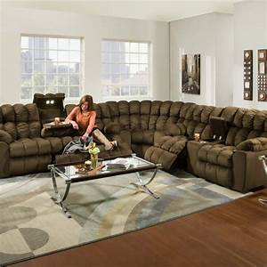 Brayden 440 reclining sectional in umber sofas and for Sectional sofa configurations