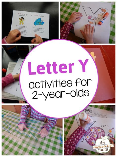 letter y activities for 2 year olds the measured