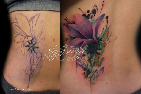 cover  tattoos  women tattoo flower coverup