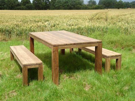 bali reclaimed teak bench set wash