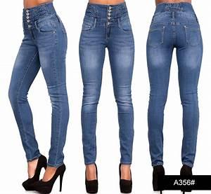 Womens Ladies Sexy High Waist Skinny Jeans Blue Stretch Denim Size 6-16 | eBay