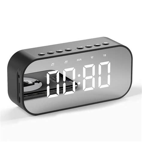 Alarm clock by david j patterson is licensed as donationware. Mini alarm clock mirror design Bluetooth speaker wireless
