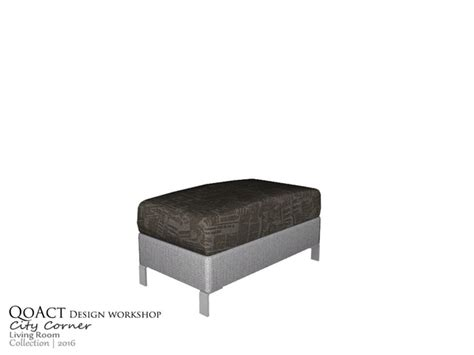 qoact s city narrow ottoman
